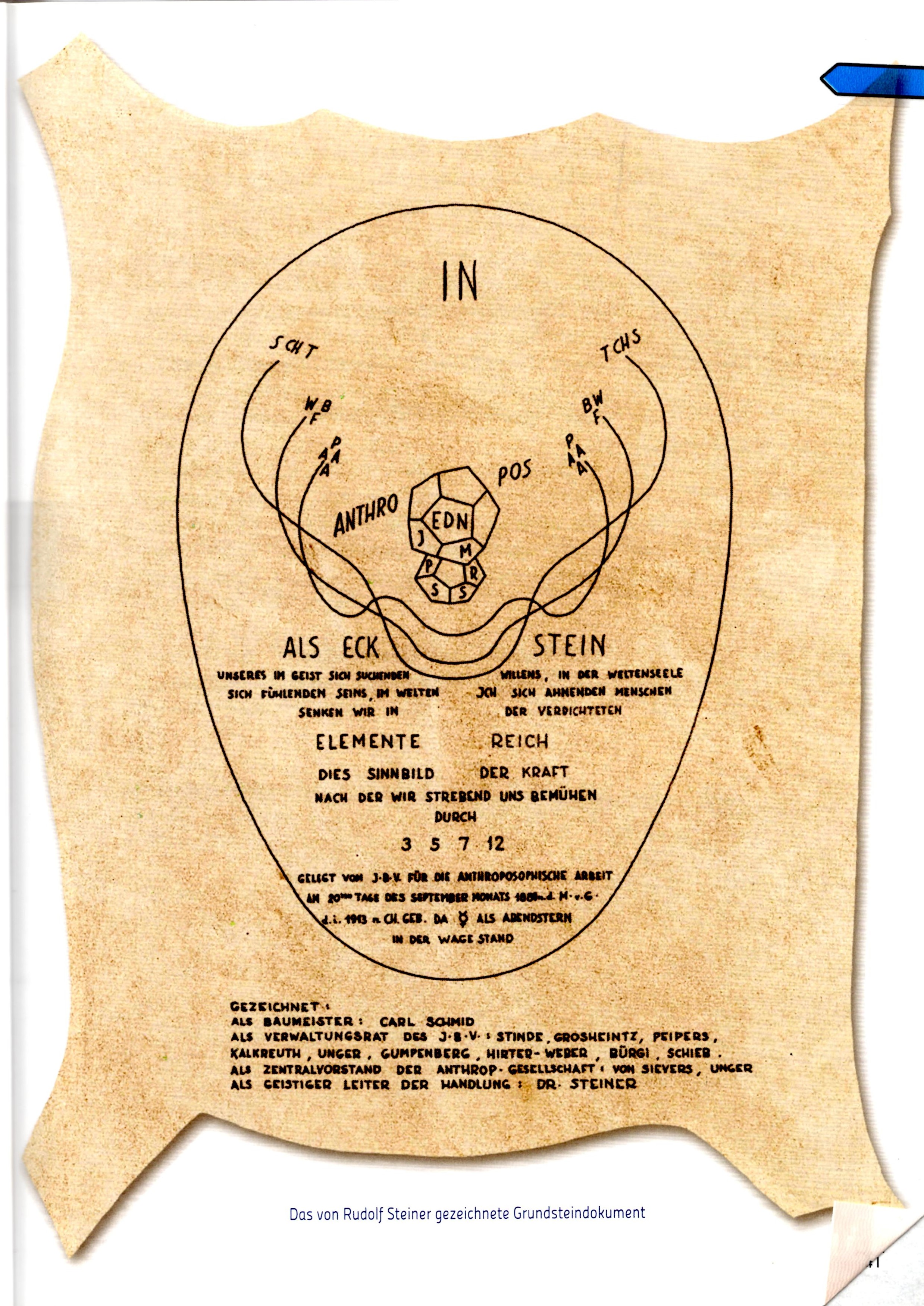 Dokument der Grundsteinlegung